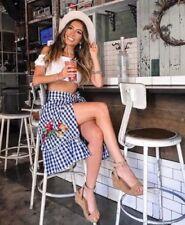Zara Check Wrap, Sarong Skirts for Women