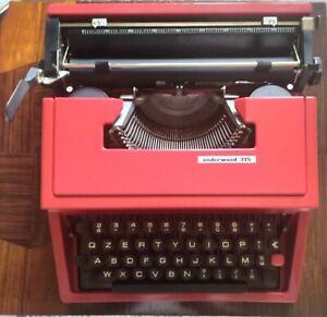 Macchina da Scrivere Underwood 315 rossa