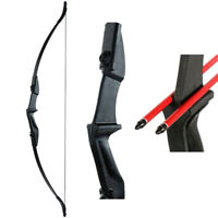 """Archery 57"""" Takedown Hunting Recurve Bow Right Left Hand Longbow Target Practice"""