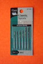 Dritz Tapestry Hand Sewing Needles - Size 18/22 - 6 pack - Large Eye-Blunt Point