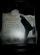 U2 From The Sky Down Rare Grammy Nomination Promo Poster Ad Framed!