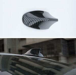 1Pcs Car Exterior Trim Roof Decoration Carbon Fiber Style ABS Shark Fin Antenna