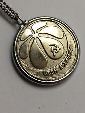 EUC Vtg USSR EXPO 74 Medallion Pendant Chain Necklace