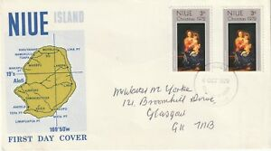 1972 Niue FDC cover Christmas