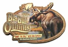 American Expedition Wood Magnet BIG BULL OUTFITTERS,Bull Moose Vintage Ad Series
