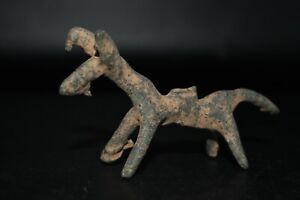 Ancient Luristan Bronze Animal Figurine Standing atop four sturdy Short Legs