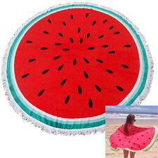 Indian Round Tassel Watermelon Beach Towel Summer Sunbath Blanket Picnic Mat