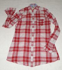 Lockre Sitzende Taillenlang Damenblusen,-Tops & -Shirts im Blusen-Stil mit Baumwollmischung