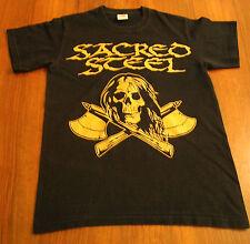SACRED STEEL - 2009 T-Shirt Omen Virgin Steel Helstar Jag Panzer Iron Kobra