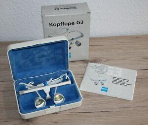 Zeiss G3 Kopflupe 3x-400 Lupenbrille mit Aufbewahrungsbox - Arbeitsabstand:400mm