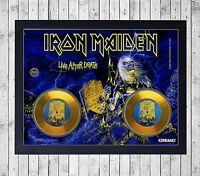 IRON MAIDEN LIVE AFTER DEATH CUADRO GOLD/PLATINUM CD EDICION LIMITADA. FRAMED