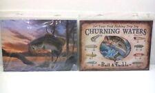 """{2} FISHING TINS, 1- Largemouth Striking Lure, 1- Vintage Lures, both are 9""""x13"""""""