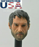 1/6 Joel The Last of Us Male Head Sculpt For Hot Toys PHICEN Male Figure U.S.A.