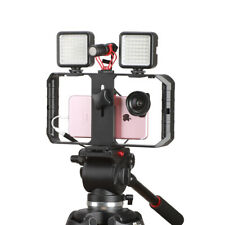 Smartphone Video Rig Filmmaking Recording Vlogging Rig Handheld Grip Stabilizer