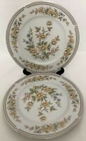 "Style House Fine China  ""Rose Garden"" Pattern 10 1/2"" Set Of 2 Dinner Plates."