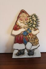 7� Debra Schoch Christmas Santa Wood Ornament 1985