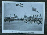 LPZ) Blatt 12. Deutsches Turnfest Leipzig 1913 Studentika Festzug Einzug Sport
