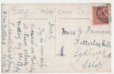 Miss G. Francis, Totterton Hall, Lydbury North 1924 Postcard, B332