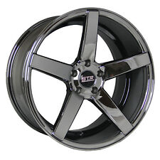 20X9 20X10.5 5x114.3 STR 607 BLACK CHROME HONDA TOYOTA CHEVY DODGE 350Z 370Z LOW
