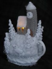 Winter Wonderland Tea Cosy Knitting Pattern to knit your own Christmas Tea Cosy