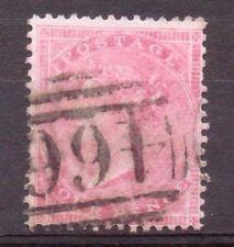 1857 BELLE USATO QV SG66b 4d ROSE-Carmine su carta spessa smaltata bella ridotto