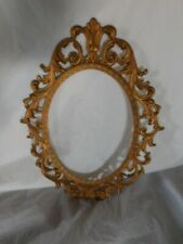 vintage metal gilded gold picture frame round oval photo wall decor frames gilt
