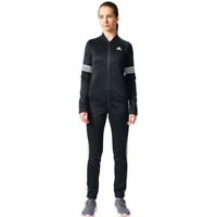 New Womens Adidas Black Pes Cosy TS Logo Track Top Zip Up Workout Tracksuit XS