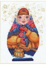 Counted Cross Stitch Kit Russian Doll Matreshka ,,Winter,, 19*26 cm 39 Colors