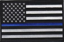 """USA Flag Blue Line 3"""" Patch American Flag Thin Blue Line Patch FAST USA SHIPPING"""