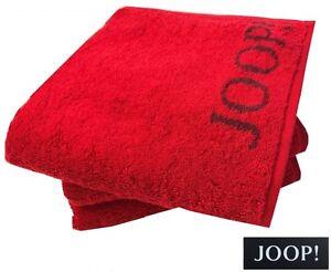 B_ JOOP! 1600 CLASSIC DOUBLEFACE HANDTUCH DUSCHTUCH SAUNATUCH 24 RUBIN ROT