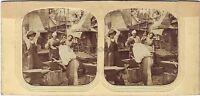 Blacksmith Escena De Género Estéreo Diorama Stereoview Tela Aprox 1865