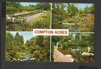 John Hinde Multi View Colour Postcard  Compton Acres Close to Poole  unposted