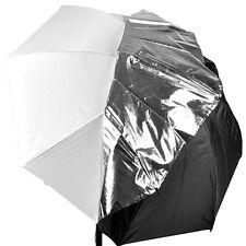 83cm 33inch 2in1 sliver reflector/White Diffuser Umbrella for flash speedlite