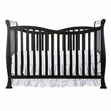 Dream On Me Violet 7 in 1 TODDLER BED, Convertible Life Style BABY CRIB, Black