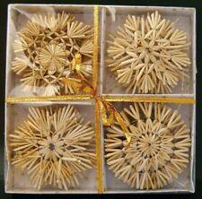 Strohsterne Box mit 20 St. a.10cm, mit Goldfaden Christbaumschmuck Baumschmuck