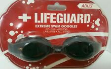 Lifeguard Extreme Swim Goggles for Adult Black Anti Fog Latex