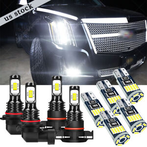 For 2007-2014 Cadillac Escalade ESV White Front Fog Driving DRL Lamps LED Lights