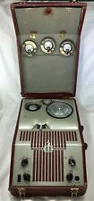 1940s WEBSTER Vintage WIRE RECORDER 80-1 w/ Reels, Mic & CASE Chicago USA Tube