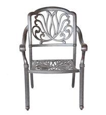 Outdoor patio dining chair Elisabeth cast aluminum furniture garden Desert Bronz