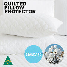 2x Standard European V Shape King Size Pillow Protector Case Waterproof Option