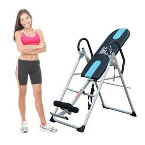 NEW Foldable Therapy Gravity Inversion Table AB Back Exercise Bench Home Fitness
