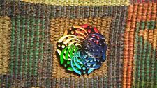 EDM Bass Music Festival Rave DJ ROYGBIV Rainbow Flower Mandala Lapel Hat Pin