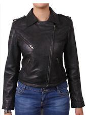 Taillenlange Damenjacken & -mäntel aus Leder in Größe 40