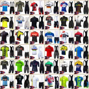 2021 Mens Team Cycling Jersey Bib Shorts Suit Short Sleeve Summer Bike Outfits
