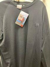 Icebreaker Men's Black Long Sleeve Merino Crew Neck Shirt New with Tags Size XXL