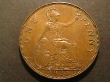 1931 GREAT BRITAIN ONE PENNY  XF/AU Foreign Coin