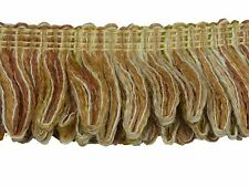 "British Trimmings 1.75"" Length Crimped Loop Ruche Fringe CHESTNUT 1st Quality"
