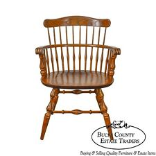 Nichols & Stone Vintage Oak Captains Arm Chair
