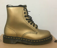 DR. MARTENS 1460 GOLD SPECTRA PATENT  LEATHER  BOOTS SIZE UK 6