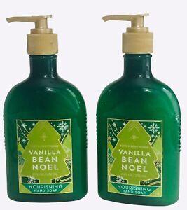 2 Bath & Body Works VANILLA BEAN NOEL Nourishing Hand Soap 8 oz NEW
